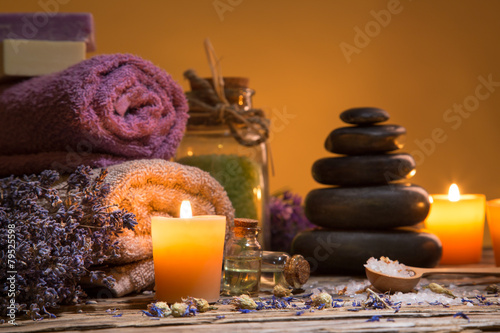 Spa still-life. Canvas-taulu
