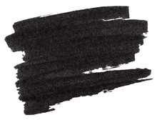 Black Marker Paint Texture Isolated On White