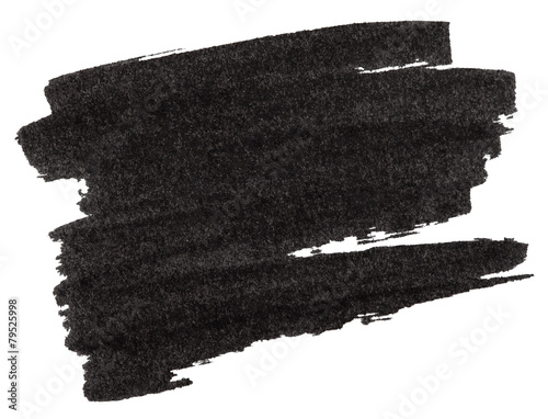 fototapeta na drzwi i meble Black marker paint texture isolated on white