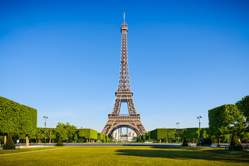 Eiffel tower in the morning, Paris