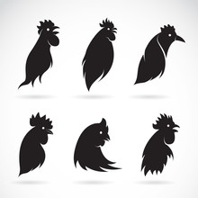 Vector Image Of An Chicken Head On White Background