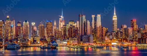 Foto op Aluminium New York New York City Manhattan skyline view at night