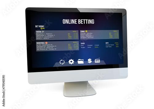 Leinwand Poster online betting