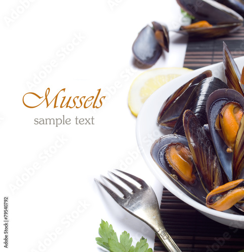 Papiers peints Coquillage Fresh mussels