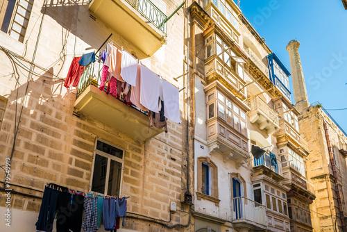 In de dag Havana Façade d'immeuble à La Valette, Malte