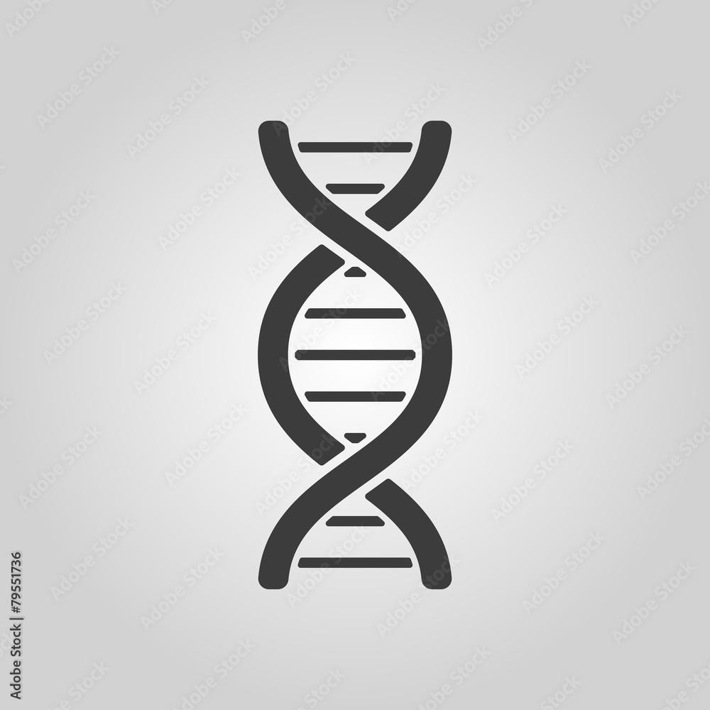 Fototapeta The dna icon. DNA symbol. Flat