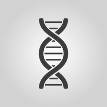 The Dna Icon. DNA Symbol. Flat