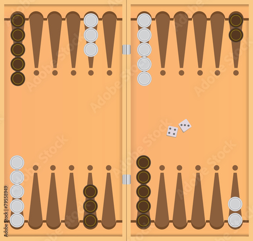 Starting position in the game of backgammon Canvas Print