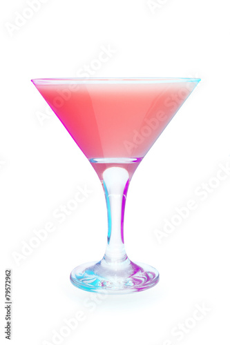 Photo  Cocktail in glass on white background isolated.