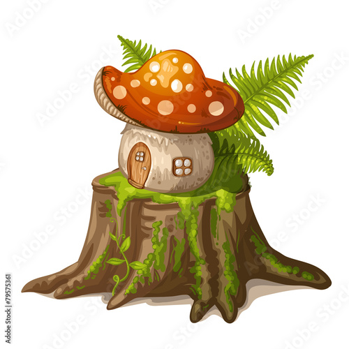 Fotografie, Obraz  House for gnome made from mushroom