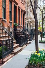 New York City Street With Brow...