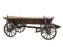 Vintage Old Rough Wooden Cart ...