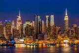 Śródmieście Manhattanu nocą