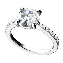 The Beauty Diamond Ring.Vector...