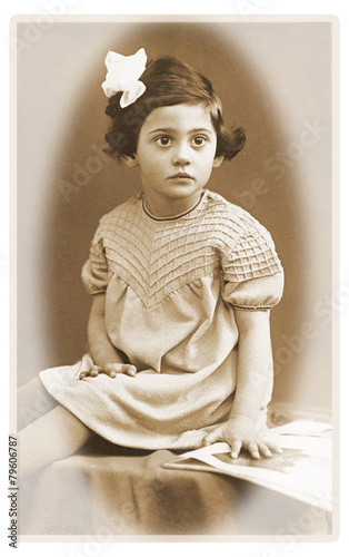 Fotografia  Kleinkind vor 80 Jahren