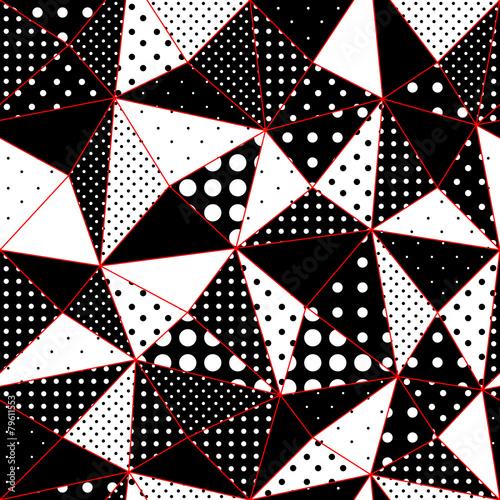 wzor-geometryczny-trojkaty-z-kropek-polka
