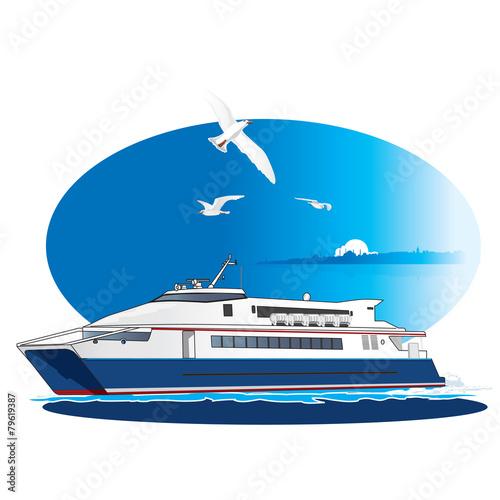 Fotografía  Vector Ferry, Steamship.
