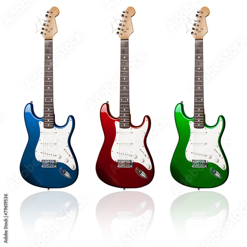 Photo  electric guitars