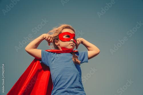 Photo  Child superhero portrait