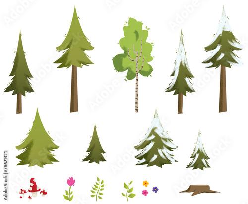 kit nature et forêt #79621324