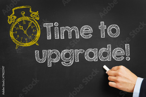 Fotografía  Tafel mit Time to upgrade