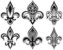 Fleur De Lys Vintage Design Ic...