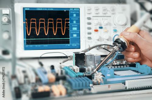 Fotografie, Obraz  Electronics repair