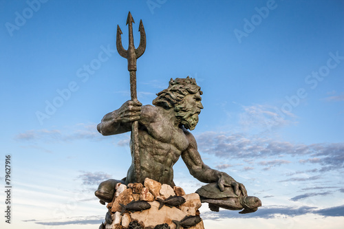 King Neptune Statue at Virginia Beach Canvas-taulu