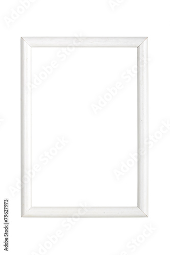 simple white wooden picture frame, isolated on white - Buy this ...