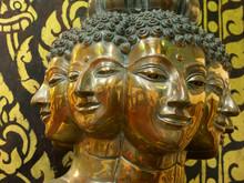 Statue At Wat Phathat Haripoonchai , Lamphun, Thailand