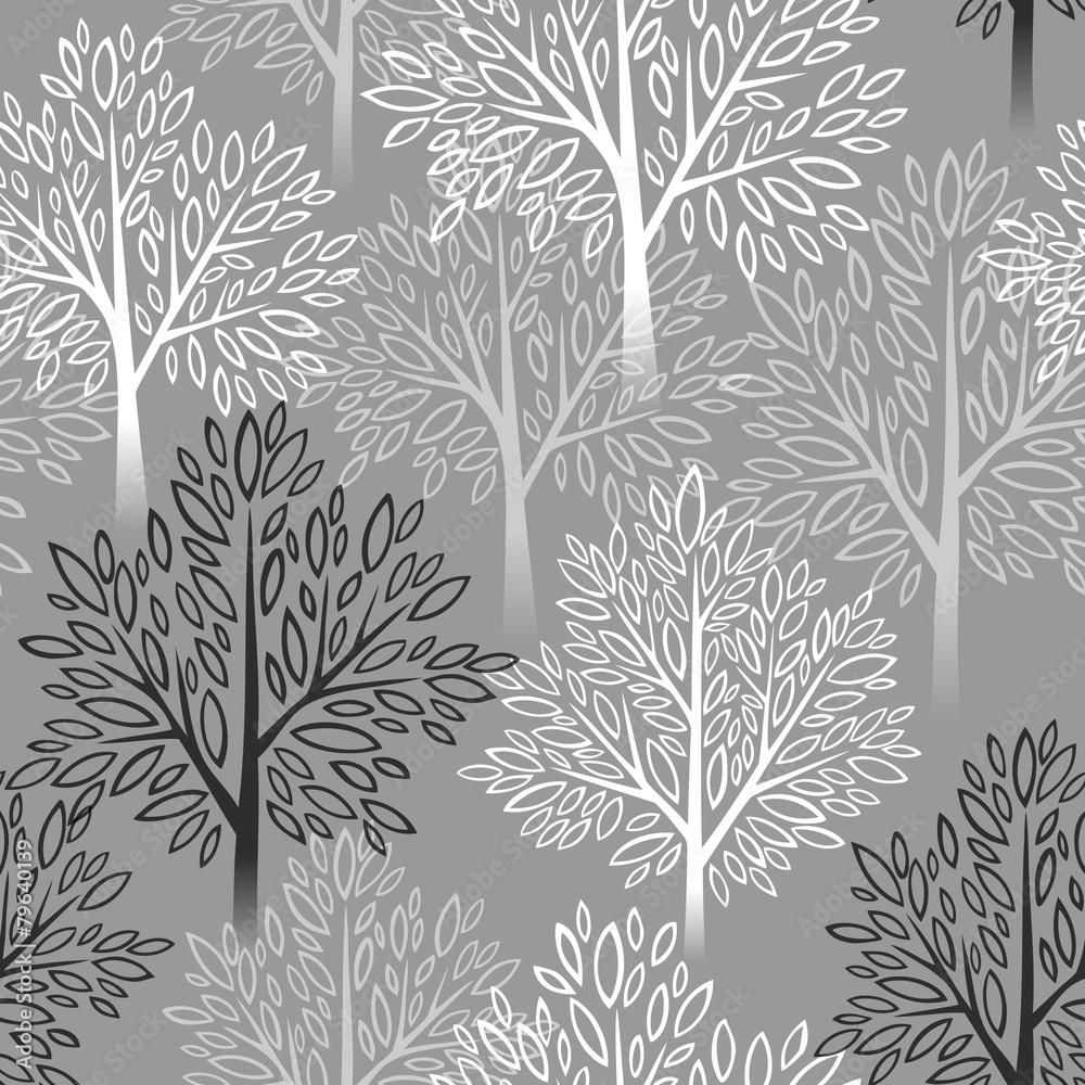 Drzewny wzró w szarości