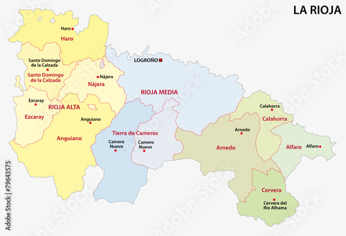 la rioja administrative map