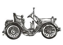 Car Retro Vector Logo Design Template. Transport Or Vehicle Icon