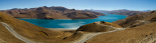 Panorama Of Yamdrok Lake In Tibet