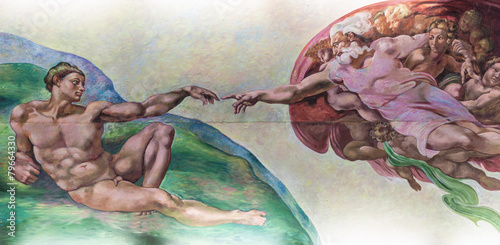 Fotografie, Obraz  BANGKOK THAILAND - FEBRUARY 28 : The creation of Adam or God's t