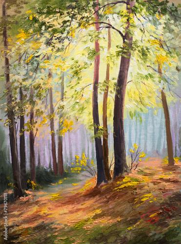 wiosenny-krajobraz-drzewa-w-lesie-kolorowy-obraz-olejny