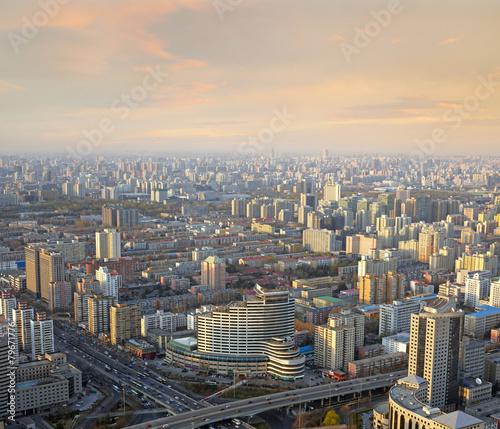 Door stickers Beijing Beijing sunset cityscape