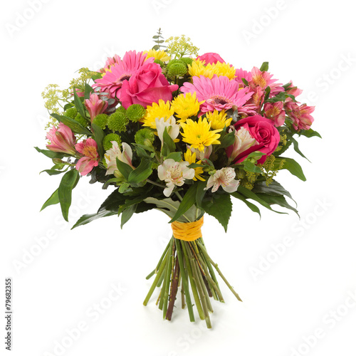 Slika na platnu bouquet made of  Alstroemeria, Gerber, Rose and Chrysanthemum fl