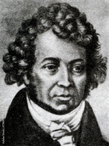 Fotografia André-Marie Ampère,  French physicist and mathematician