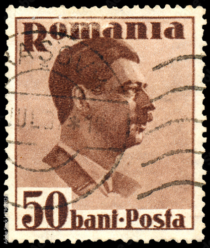 Fotografia  Stamp printed in Romania, shows King Carol II