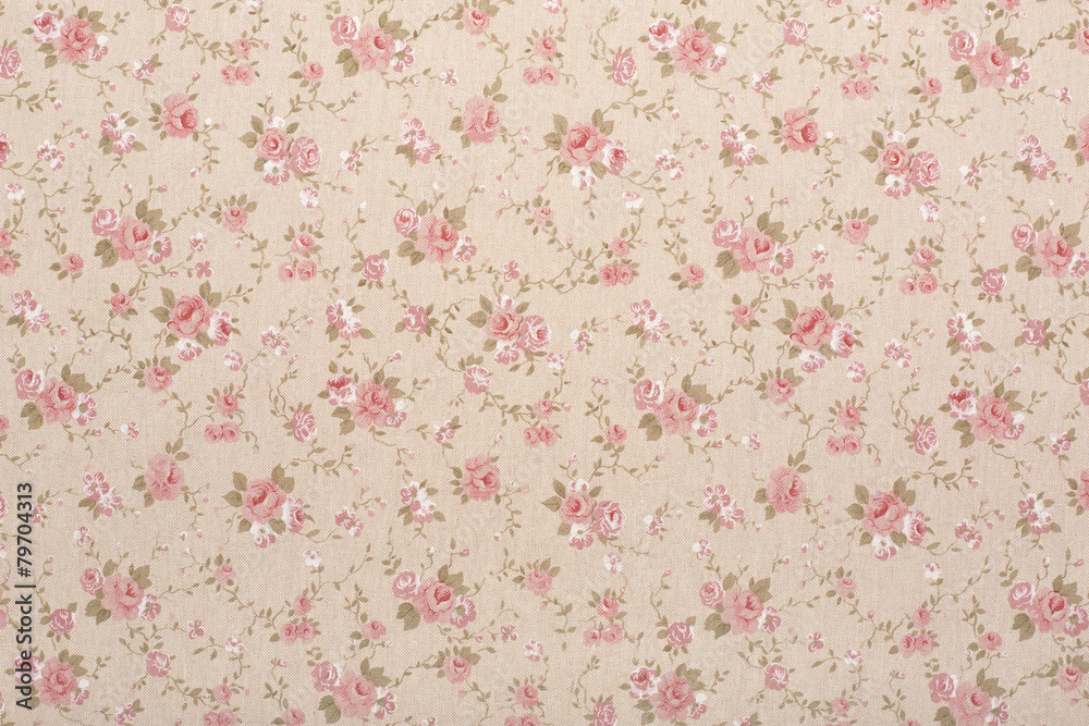 Tapestry with rose floral, romantic texture background