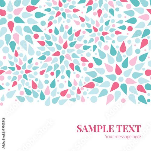 Poster Abstract bloemen Vector abstract colorful drops horizontal border card template