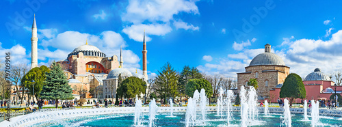 Photo sur Aluminium Turquie Panorama with the fountain