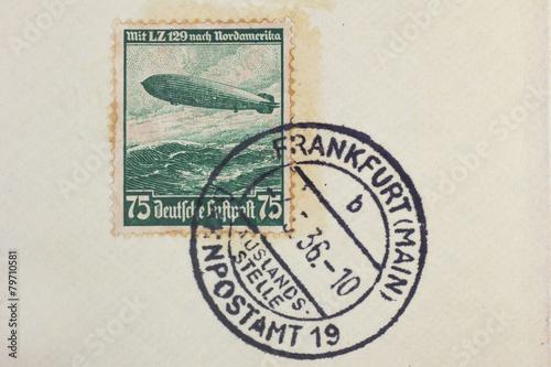 Fotografía  Poststempel Luftschiff LZ129 Hindenburg