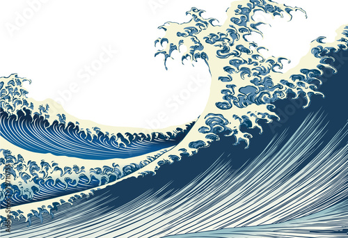 Fototapeta fala artystyczna-fala-morska