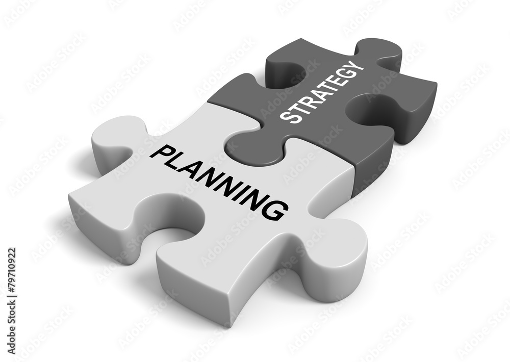 Fototapeta Combining planning with strategy for a successful business goal