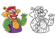 Coloring Book Clown Cartoon Character