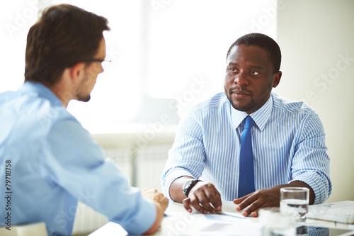 Fototapety, obrazy: Job interview