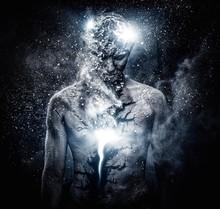 Man With Conceptual Spiritual ...