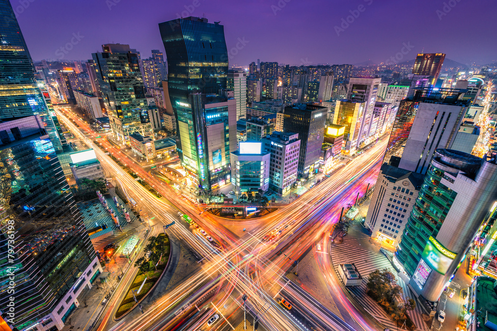 Fototapety, obrazy: Gangnam Traffic